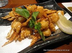 ワタリ蟹の唐揚げ