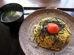 高菜チャーハン(明太子のせ)