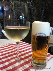 グラスワイン白&オリオン生ビール