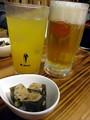 生大&パッションフルーツサワー&もずく豆腐