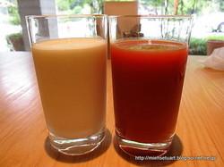 牛乳&トマトジュース